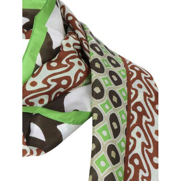2. Maliparmi silk scarf with print White Maliparmi