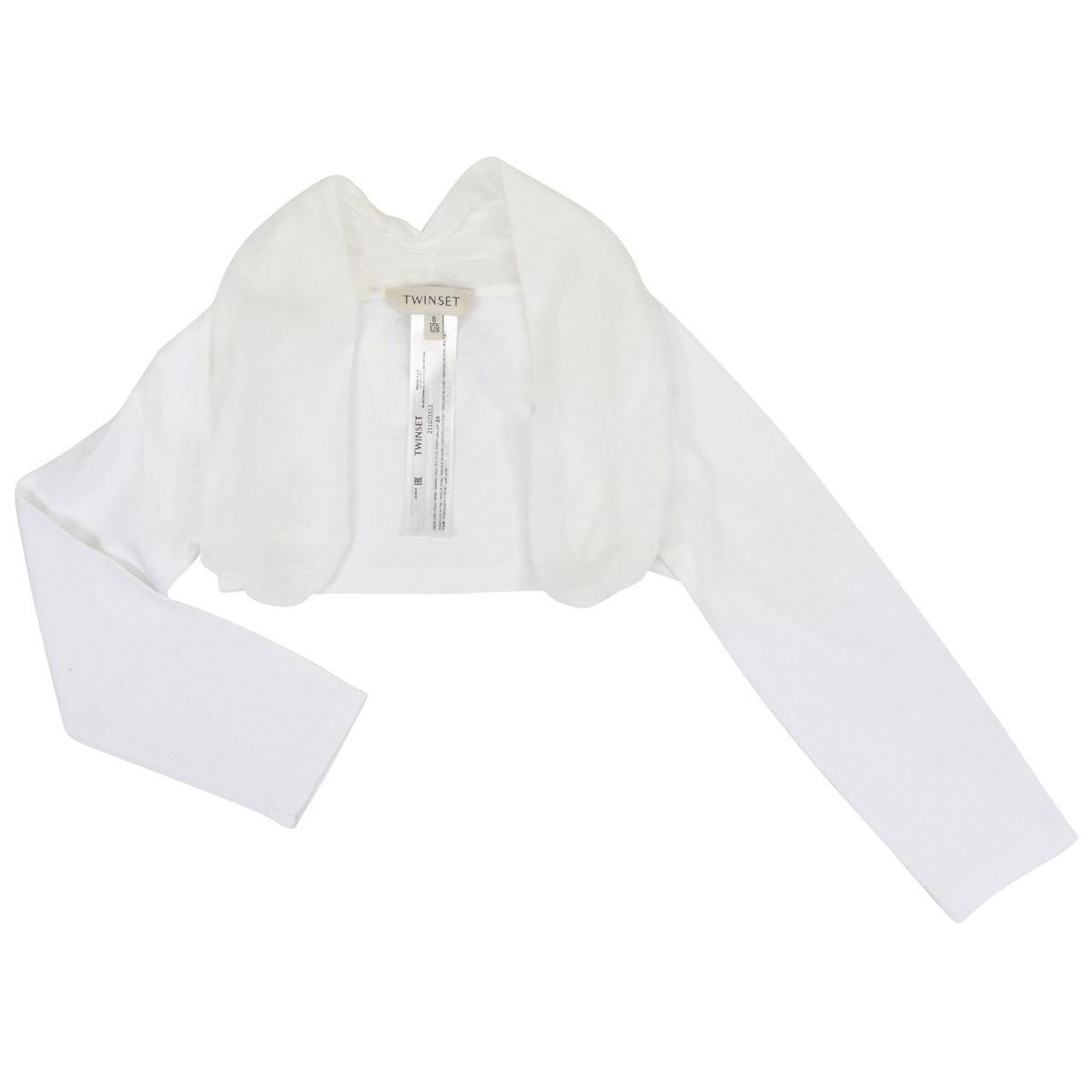 1. Twin-Set shrug in cotton blend White Twin-Set