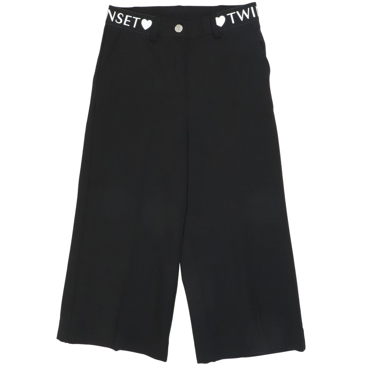 1. Twin-Set cropped trousers in viscose blend Black Twin-Set