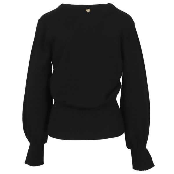 3. Twin-Set cardigan in viscose knit with logoed buttons Black Twin-Set
