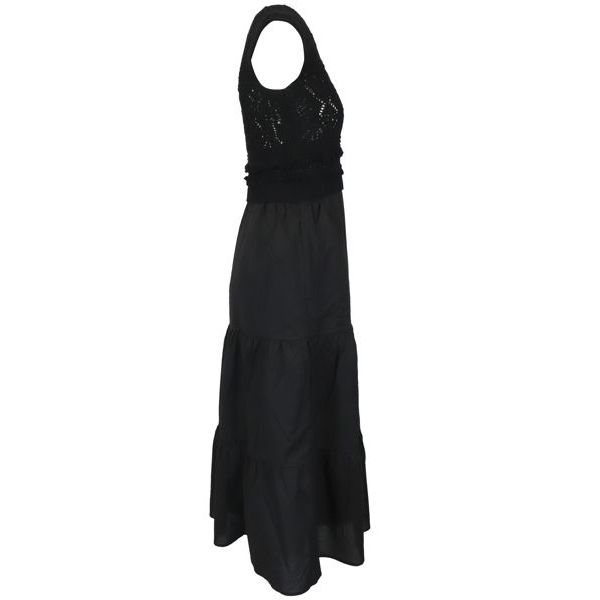 2. Twin-Set dress in cotton with knitted bodice Black Twin-Set