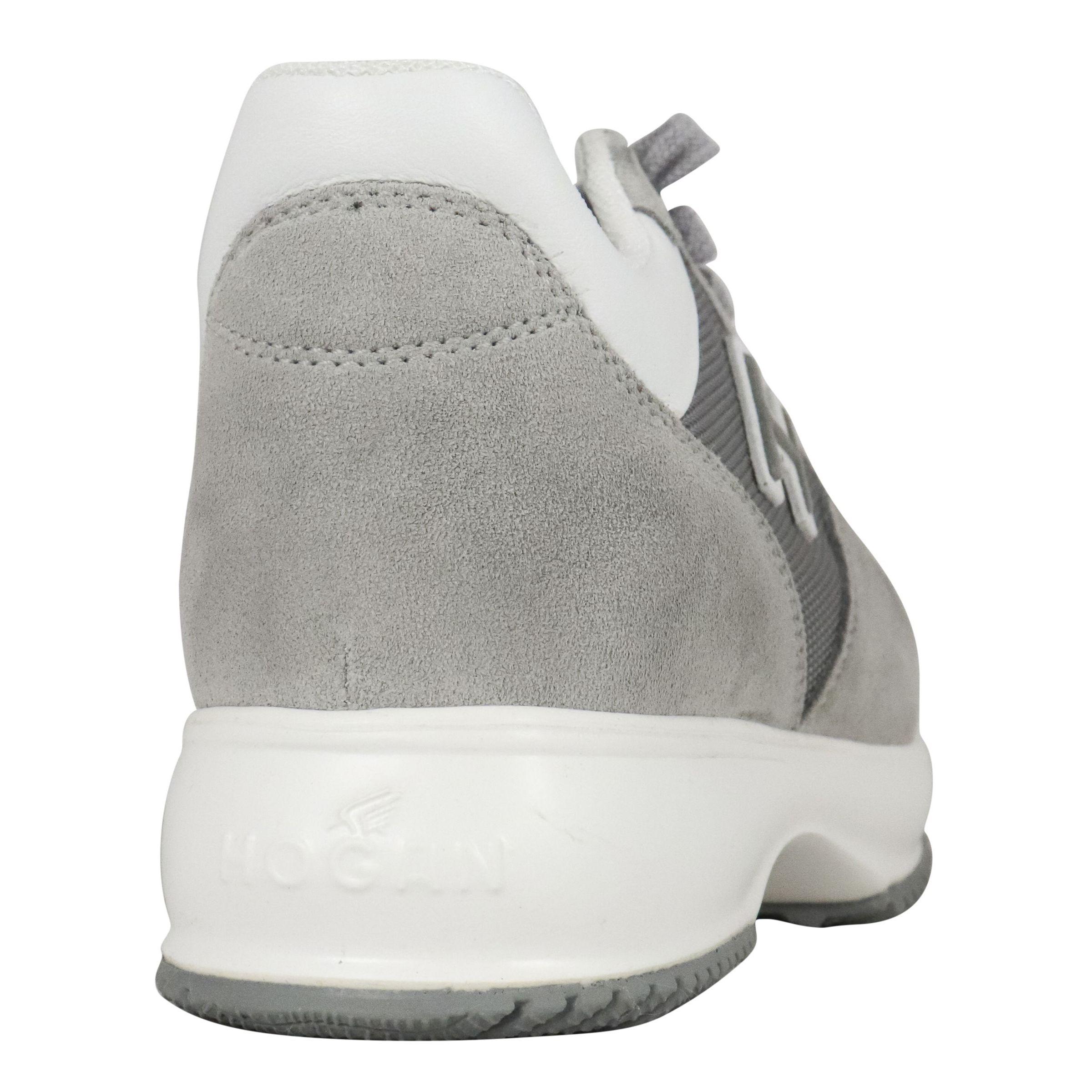 Sneakers Hogan New Interactive bimateriale Grigio chiaro ...