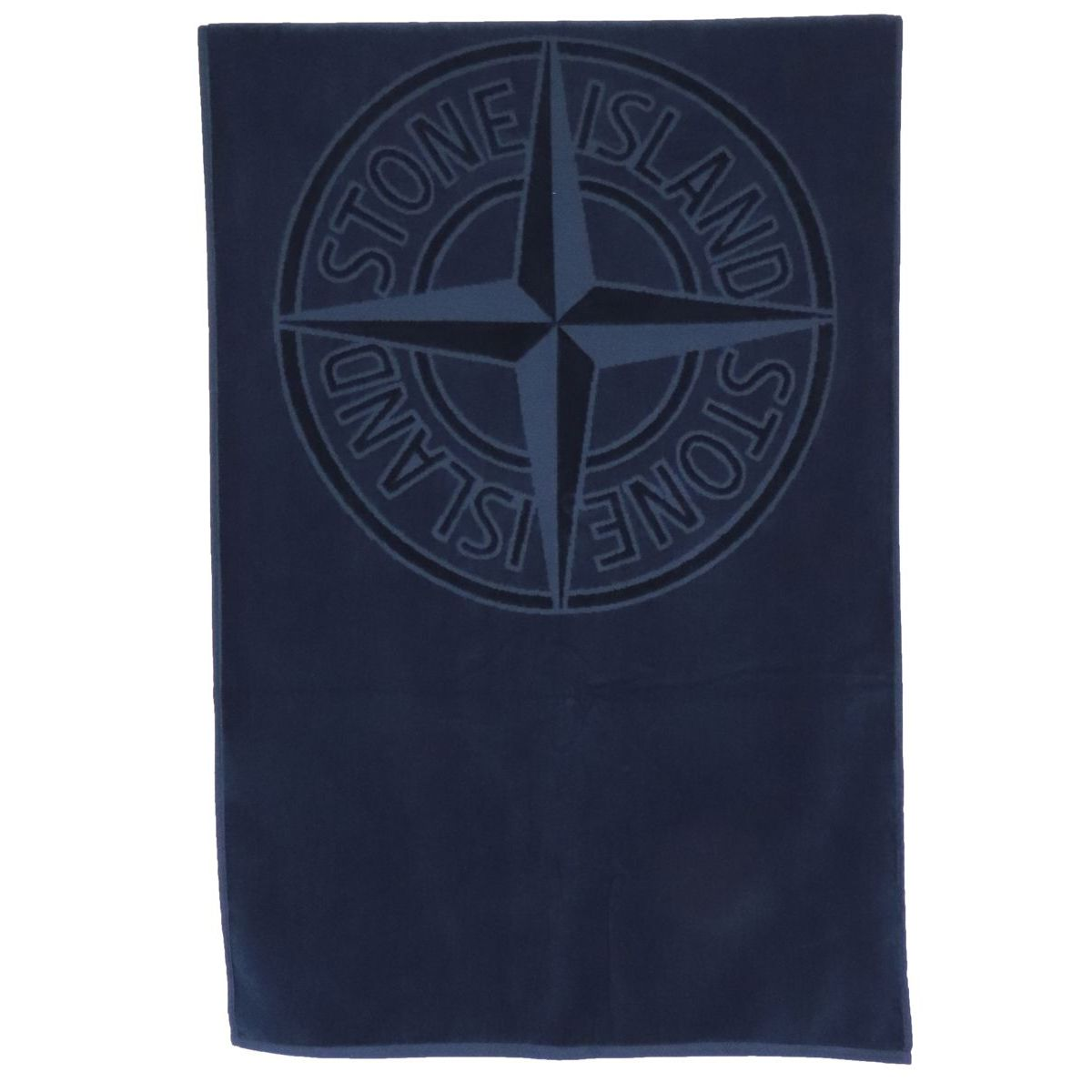 1. Stone Island beach towel in cotton with embossed logo Blue Stone Island Junior