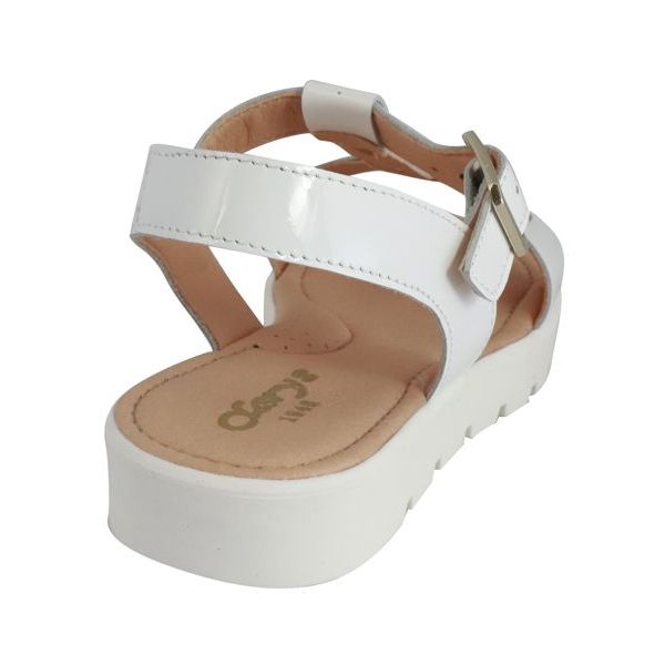 2. Clarys sandal in leather with golden studs White Clarys
