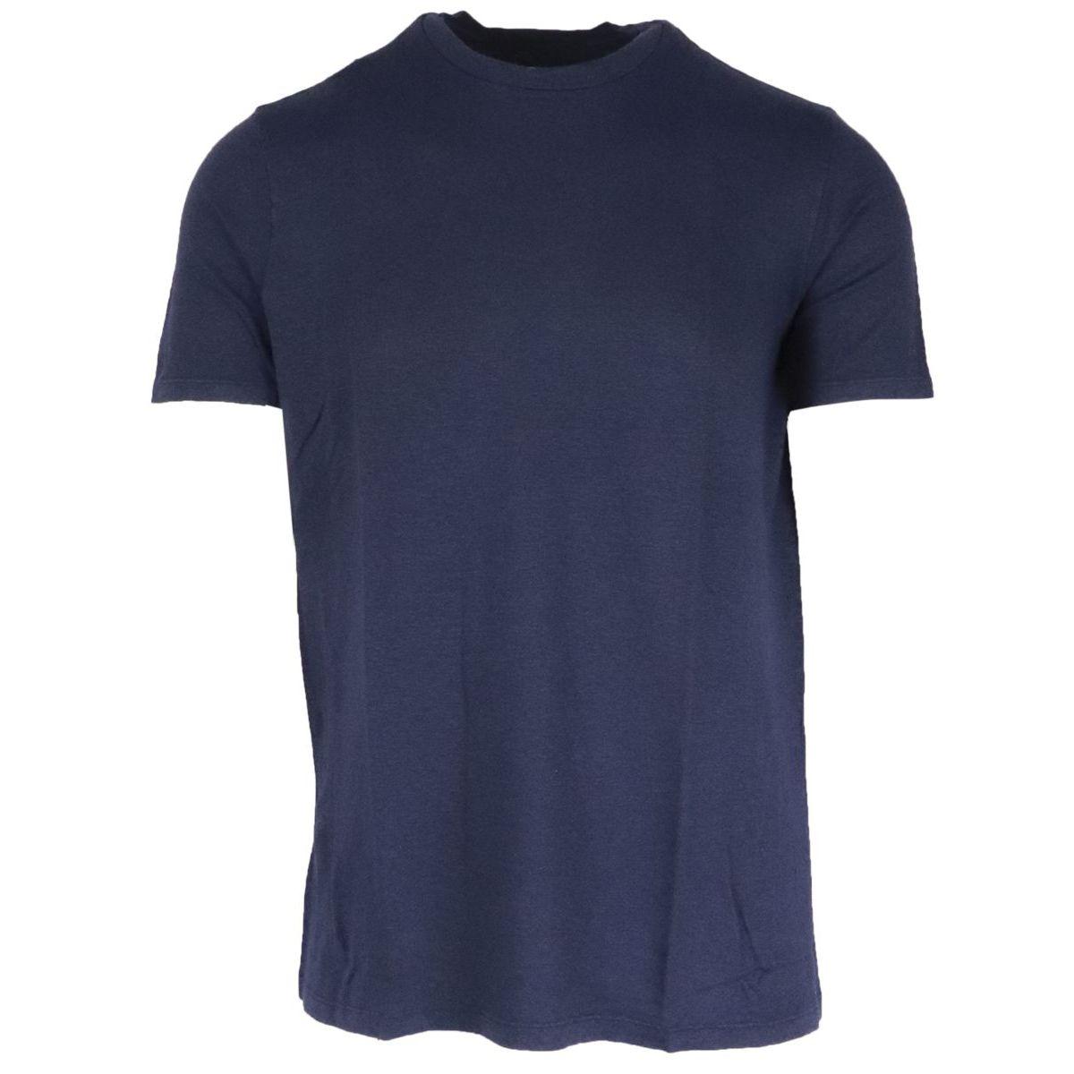 1. Altea linen short sleeve crewneck T-shirt Navy Altea
