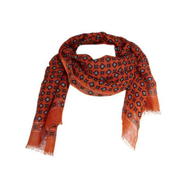1. Altea scarf in cotton with micro pattern Orange Altea
