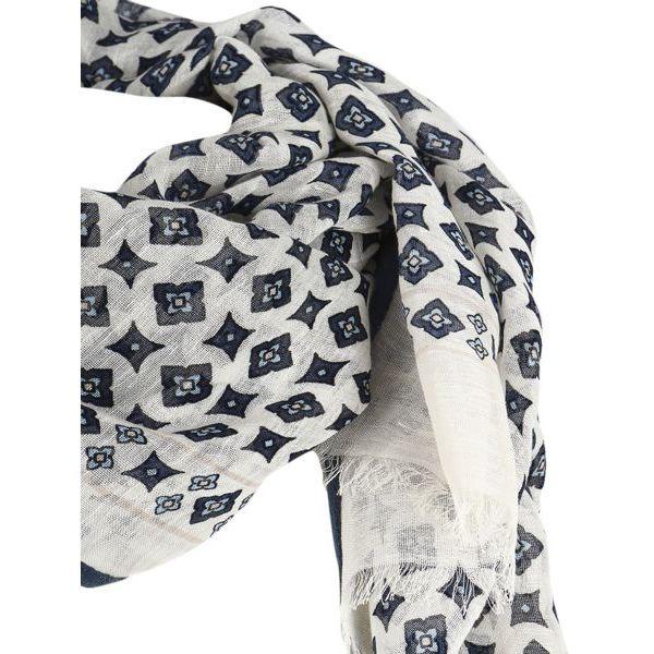 2. Altea scarf in cotton with micro pattern White Altea