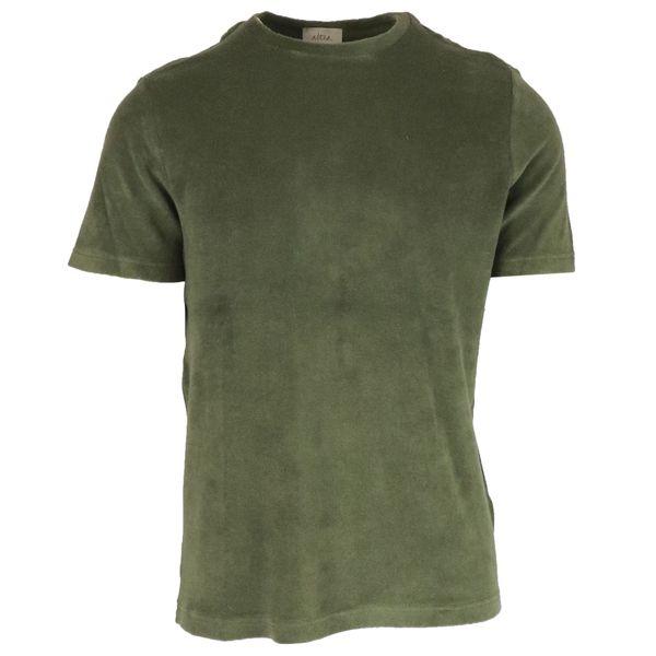 1. Altea crewneck T-shirt in cotton terry Fir Altea