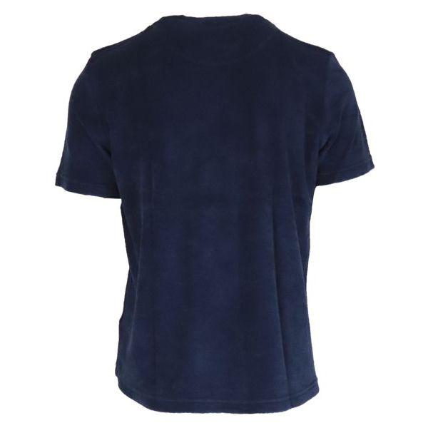 3. Altea crewneck T-shirt in cotton terry Navy Altea
