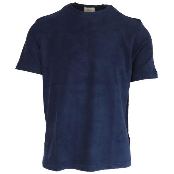1. Altea crewneck T-shirt in cotton terry Navy Altea