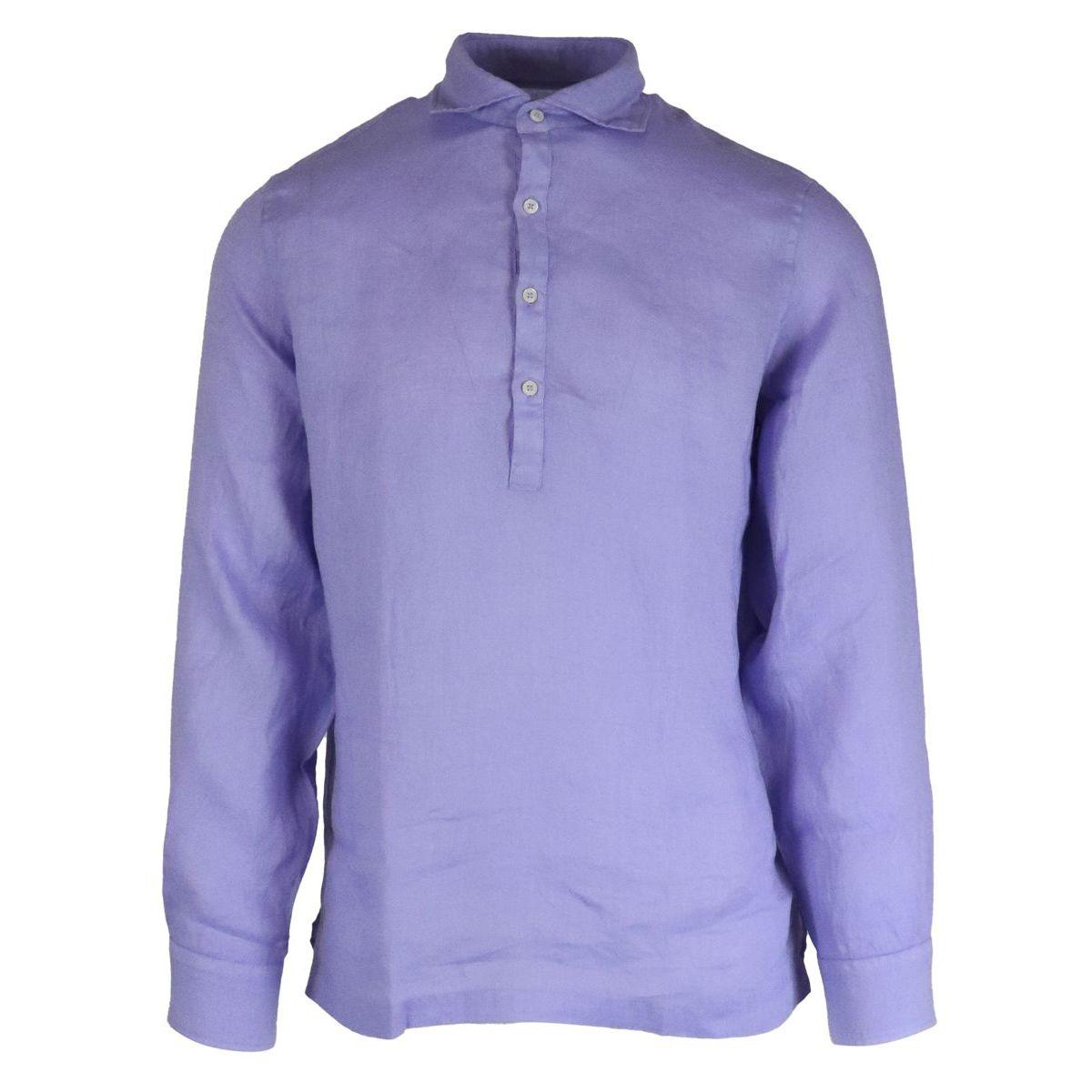 1. Altea long-sleeved linen polo shirt Wisteria Altea