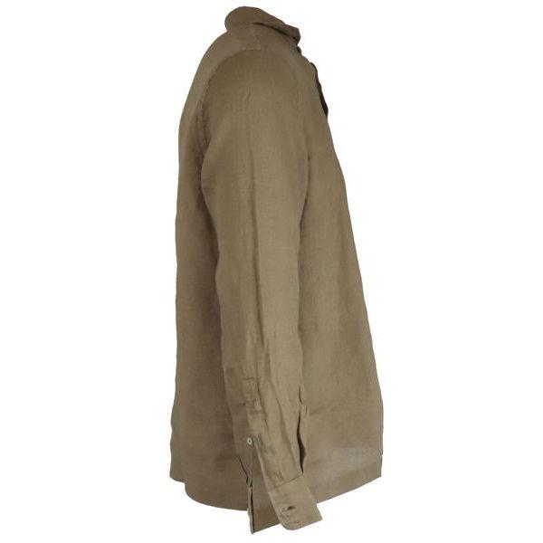 2. Altea long-sleeved linen polo shirt Camel Altea