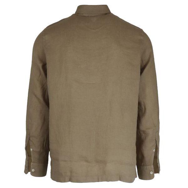 3. Altea long-sleeved linen polo shirt Camel Altea