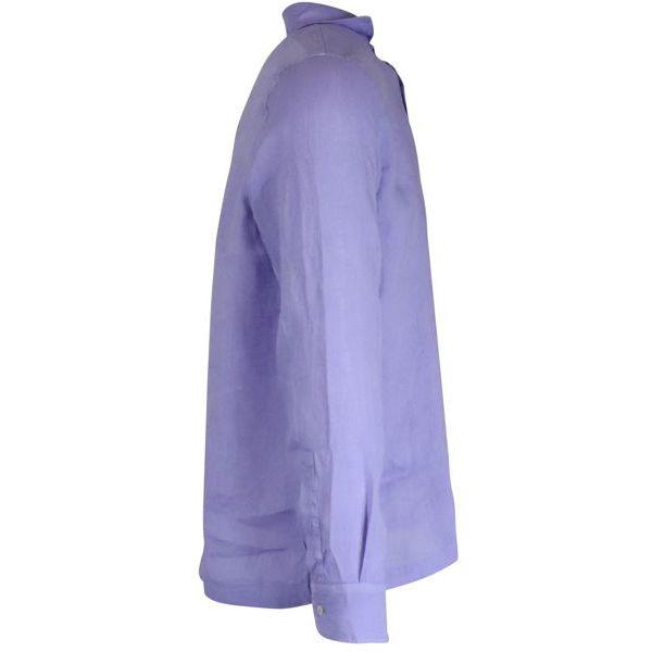 3. Altea long-sleeved linen polo shirt Wisteria Altea