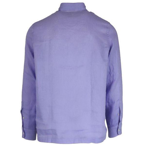 2. Altea long-sleeved linen polo shirt Wisteria Altea