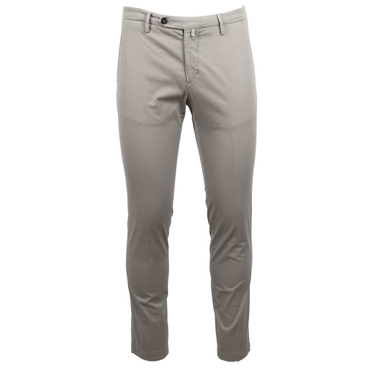 1. Bridle trousers with america pocket with pocket and double pleats Grey Briglia