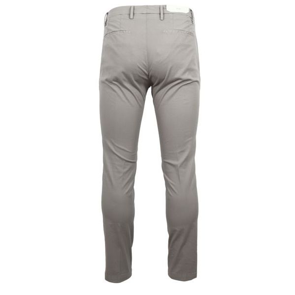 3. Bridle trousers with america pocket with pocket and double pleats Grey Briglia