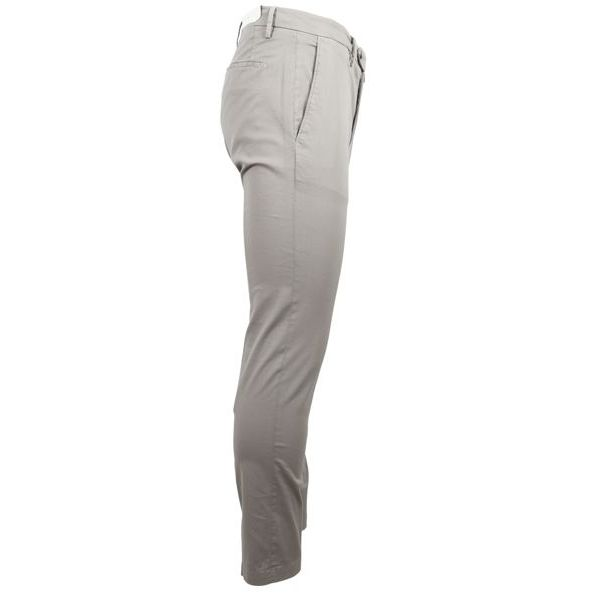 2. Bridle trousers with america pocket with pocket and double pleats Grey Briglia