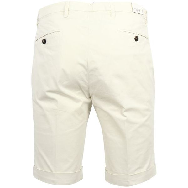3. Bridle Bermuda shorts in cotton with turn-up Cream Briglia