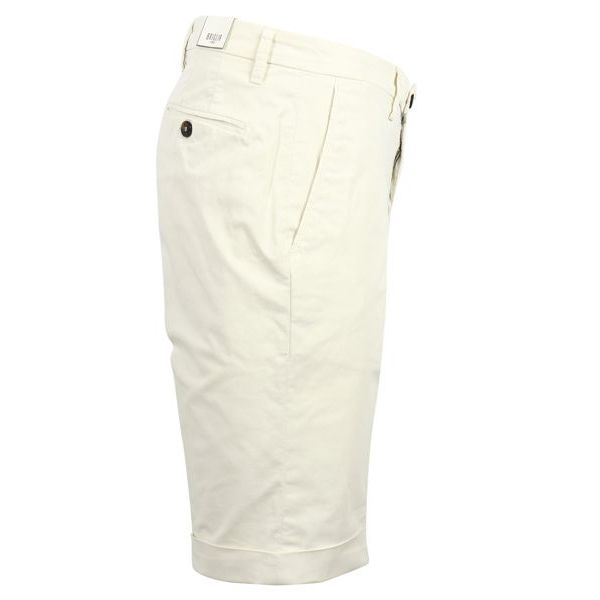 2. Bridle Bermuda shorts in cotton with turn-up Cream Briglia