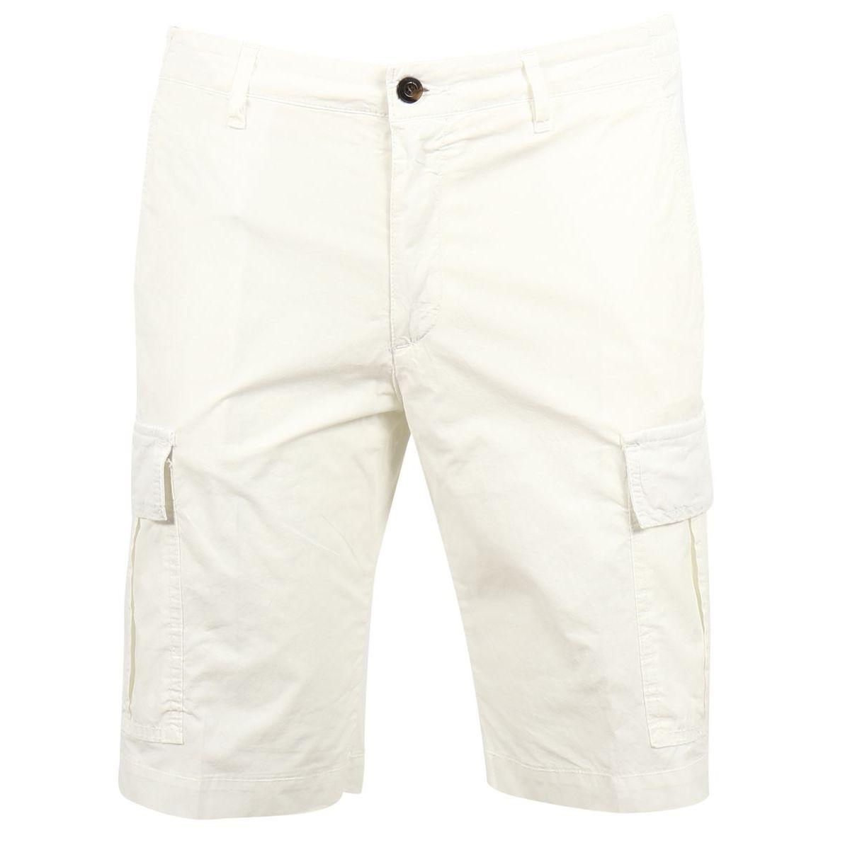 1. Bridle cargo shorts in cotton Cream Briglia
