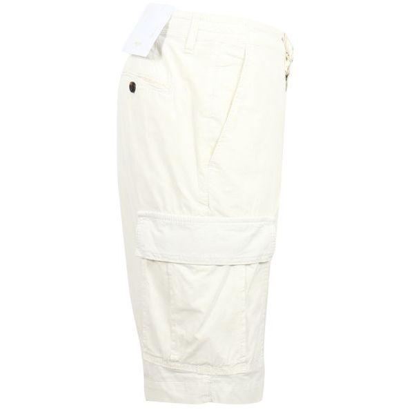 2. Bridle cargo shorts in cotton Cream Briglia