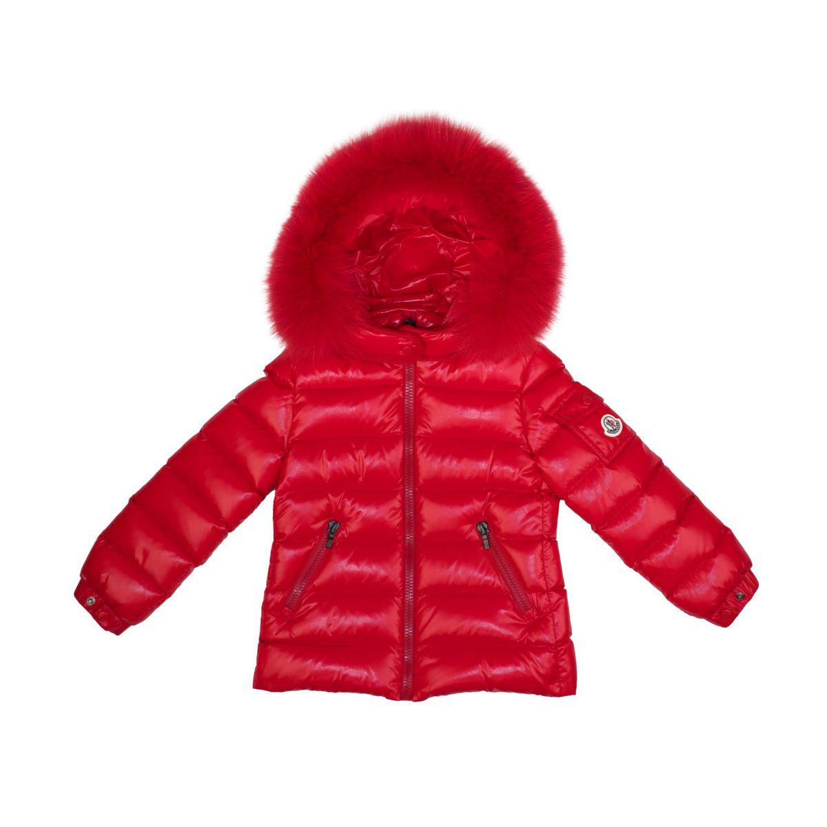 1. Moncler Bady Fur down jacket with fur trim Red Moncler