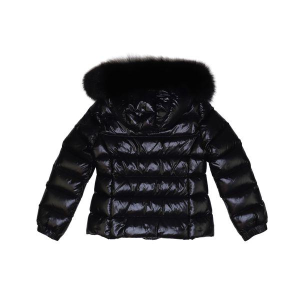 2. Moncler Bady Fur down jacket with fur trim Black Moncler