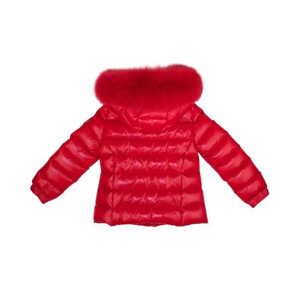 2. Moncler Bady Fur down jacket with fur trim Red Moncler