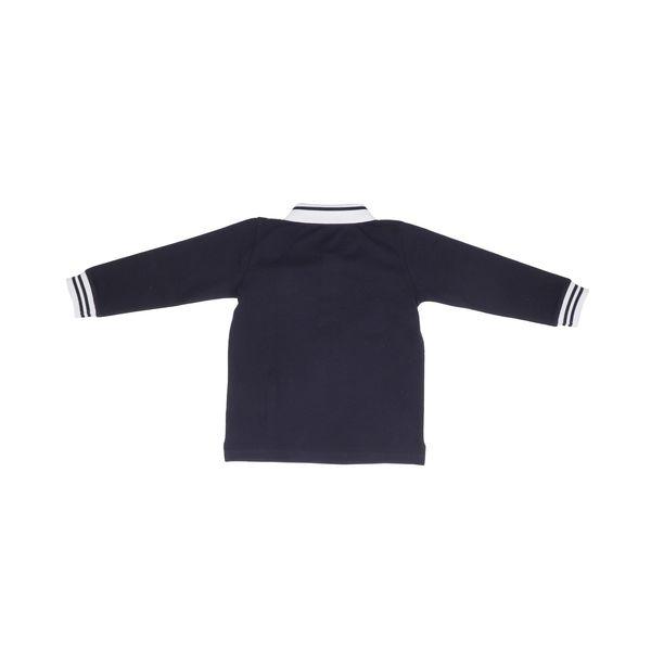 2. Moncler long-sleeved cotton polo shirt Blue Moncler