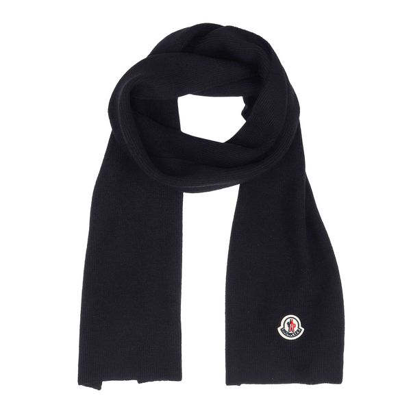 1. Moncler wool scarf Black Moncler