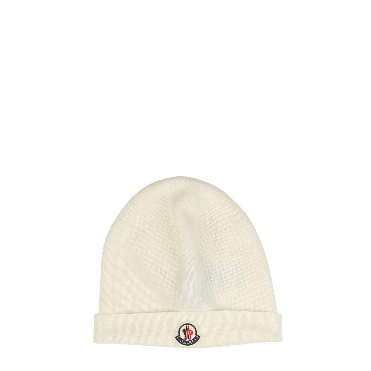 1. Moncler cap in wool blend Cream Moncler