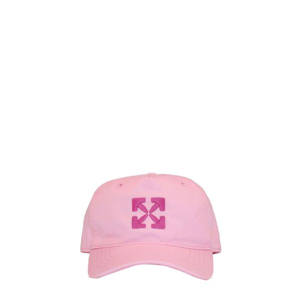 1. Off White baseball cap in cotton with embroidered logo Pink Off White