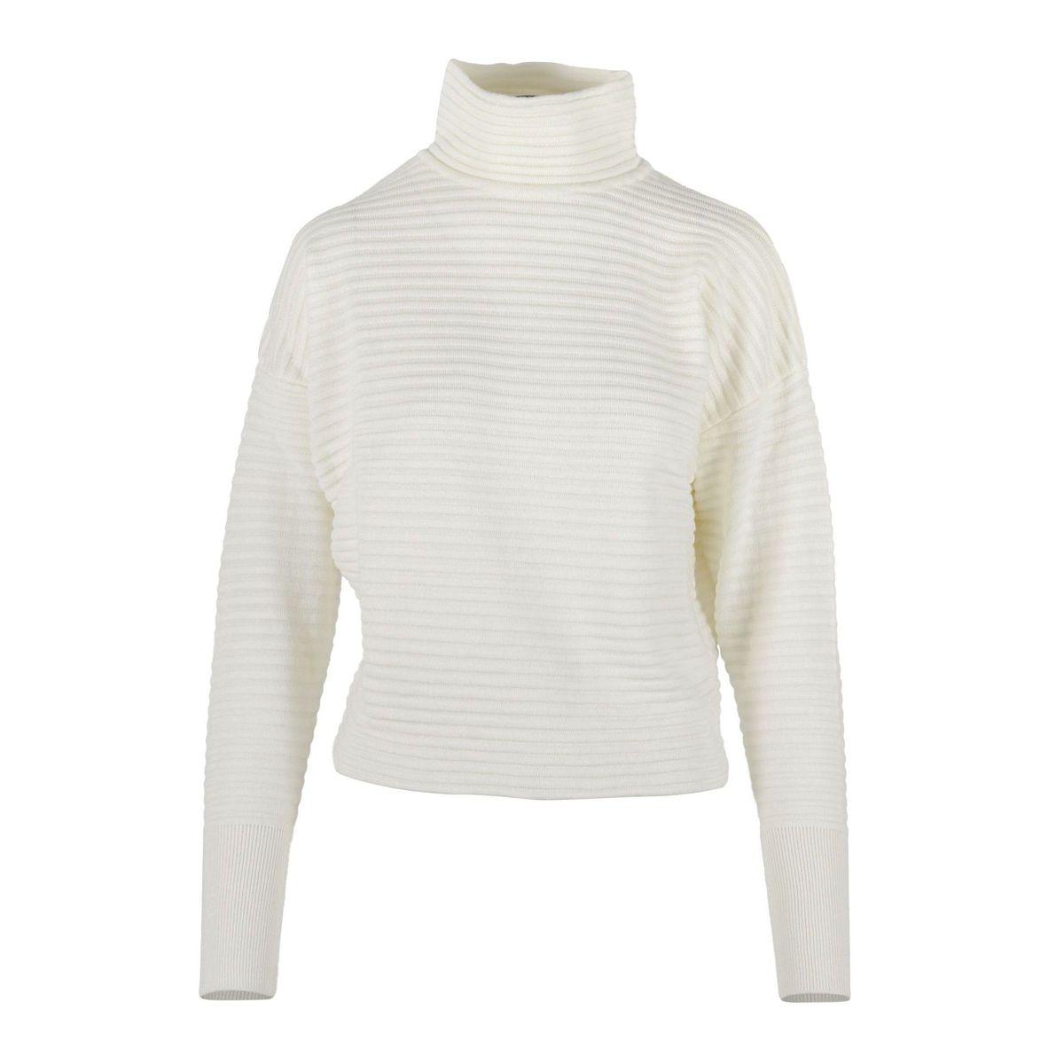 1. Nenette turtleneck in wool blend with cross on the back White Nenette