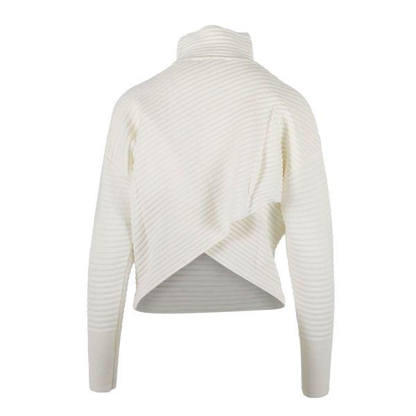 2. Nenette turtleneck in wool blend with cross on the back White Nenette