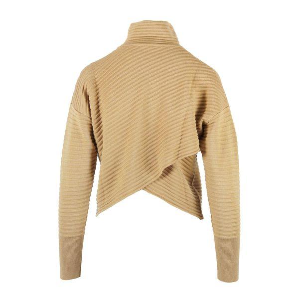 2. Nenette turtleneck in wool blend with cross on the back Camel Nenette