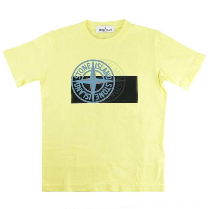 T-SHIRT STAMPA FRONTALE Limone Stone Island
