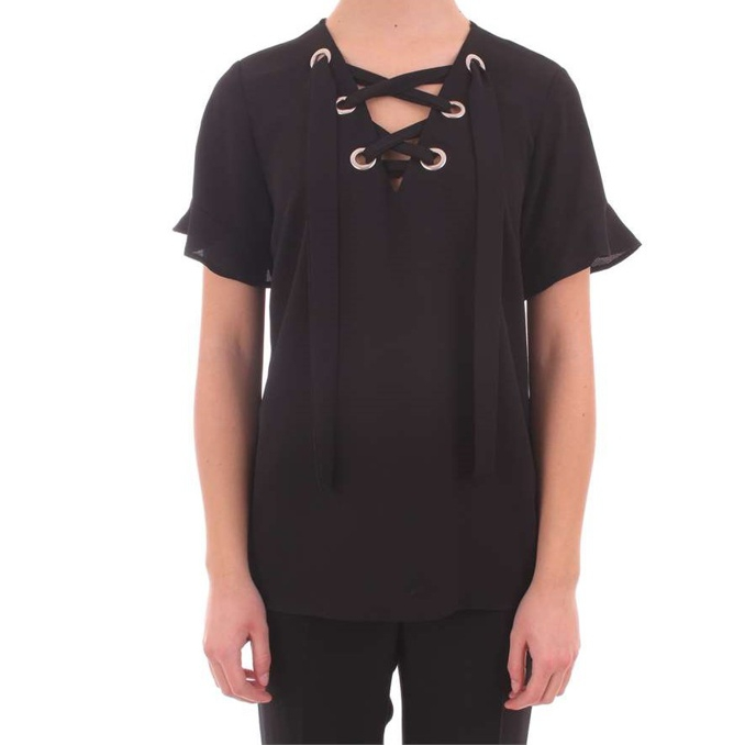 BLUSA CRISS CROSS Nero Michael Kors
