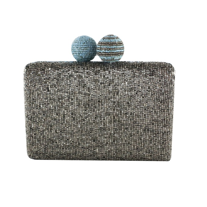 CLUTCH CUTS & BEADS Argento/turches Maliparmi