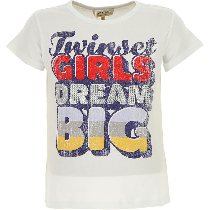 T-SHIRT STAMPA COLOR Bianco Twin-Set
