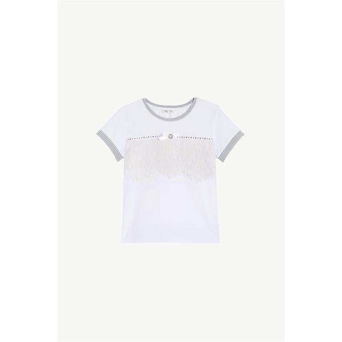 T-SHIRT MINI BORCHIE Bianco Twin-Set