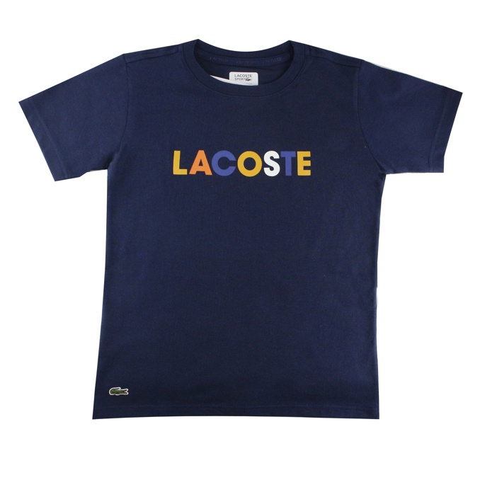 T-SHIRT LOGO COLOR Blu Lacoste