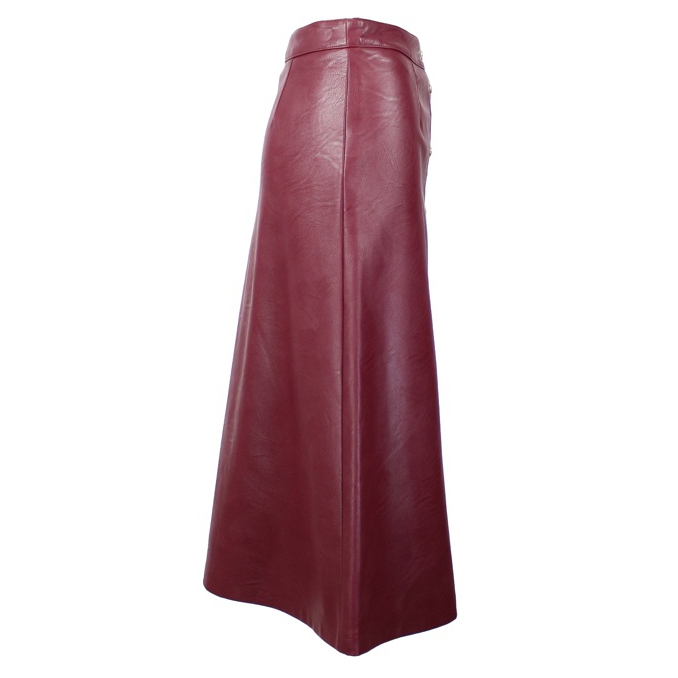 Faux leather skirt with buttons Bordeaux Twin-Set