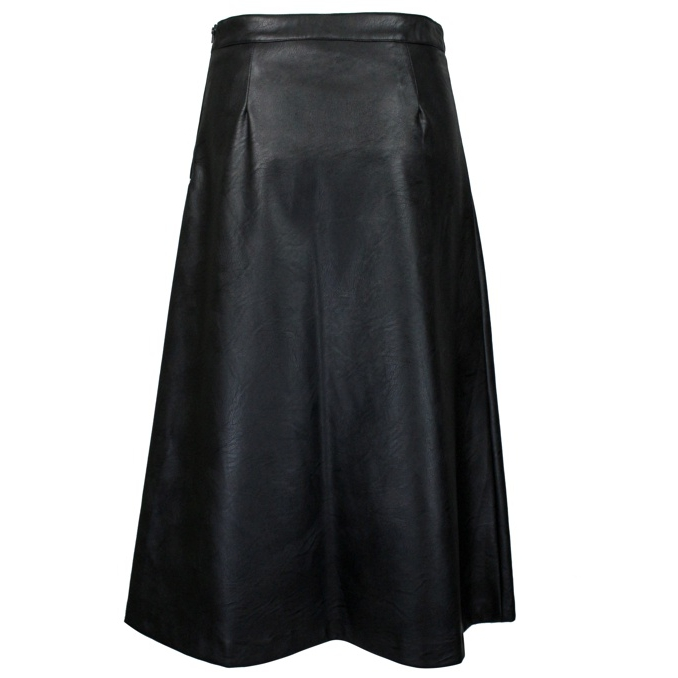 Faux leather skirt with buttons Black Twin-Set