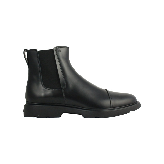 CHELSEA 393 IN PELLE Nero Hogan
