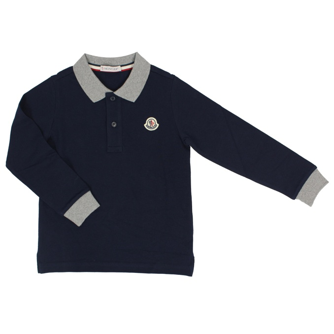 759a3169a LONG SLEEVE POLO Blue