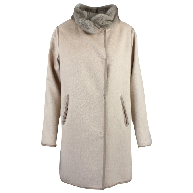 CAPPOTTO IN CASHMERE REVERSIBILE Cipria Marester