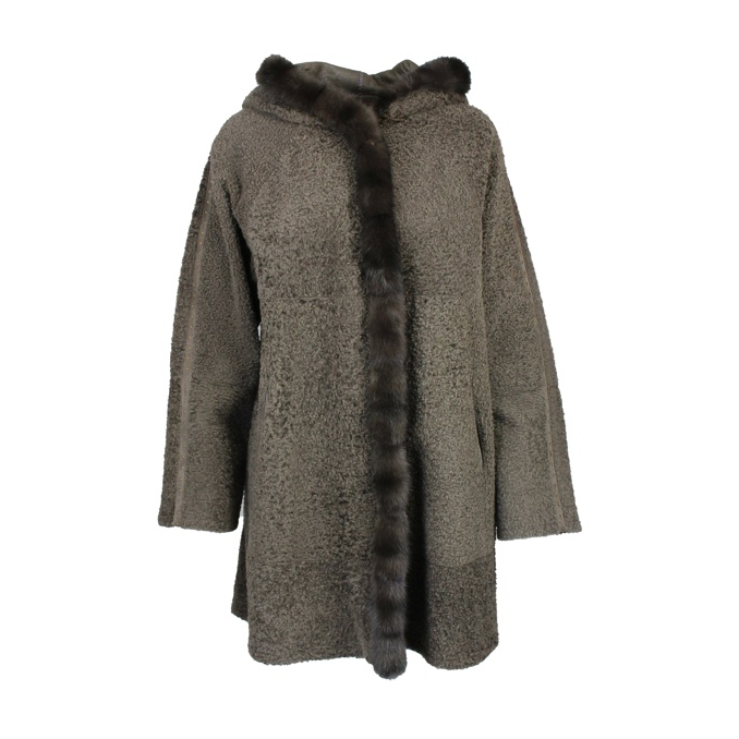 CAPPOTTO IN SHEARLING REVERSIBILE Fango Marester