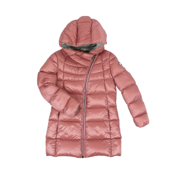 Long down jacket with hood Rose Colmar