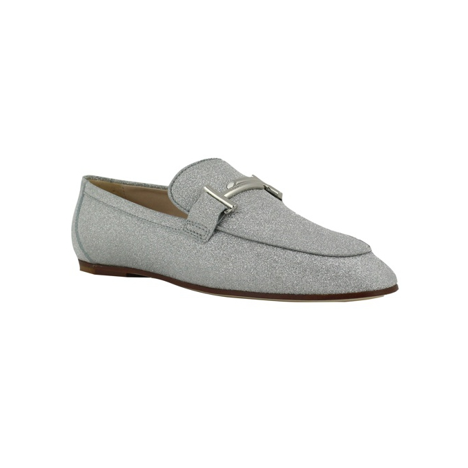 MOCASSINO DOUBLE T Silver Tod's